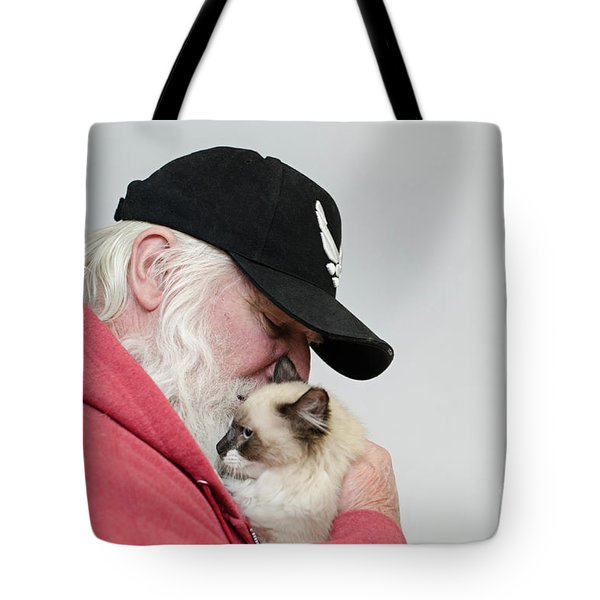 Tote Bag featuring the photograph David And Mr Atkin by Irina ArchAngelSkaya