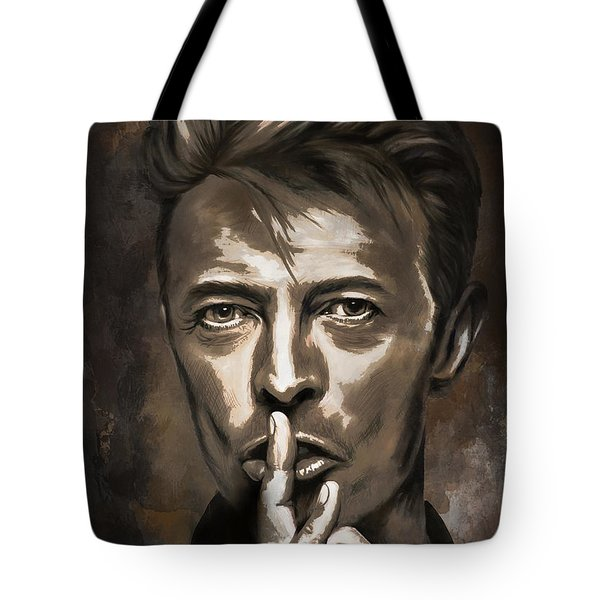 Tote Bag featuring the painting David by Andrzej Szczerski