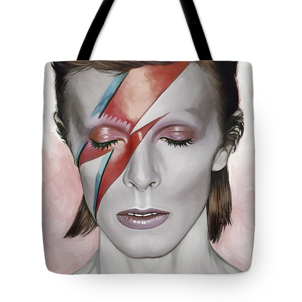 David Bowie Artwork 1 Tote Bag by Sheraz A