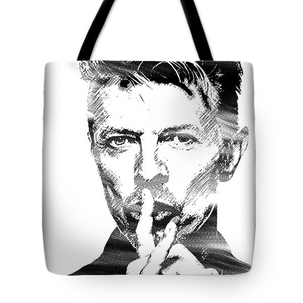 David Bowie Bw Tote Bag