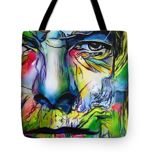 Tote Bag featuring the painting David Bowie by Eric Dee