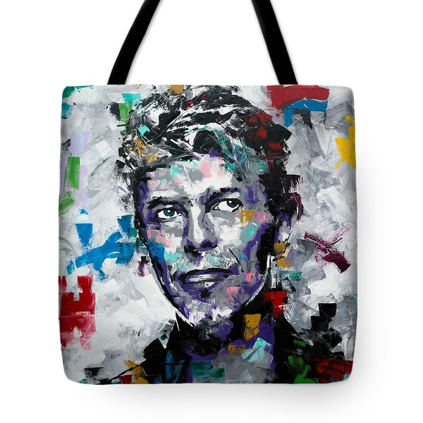 Tote Bag featuring the painting David Bowie II by Richard Day