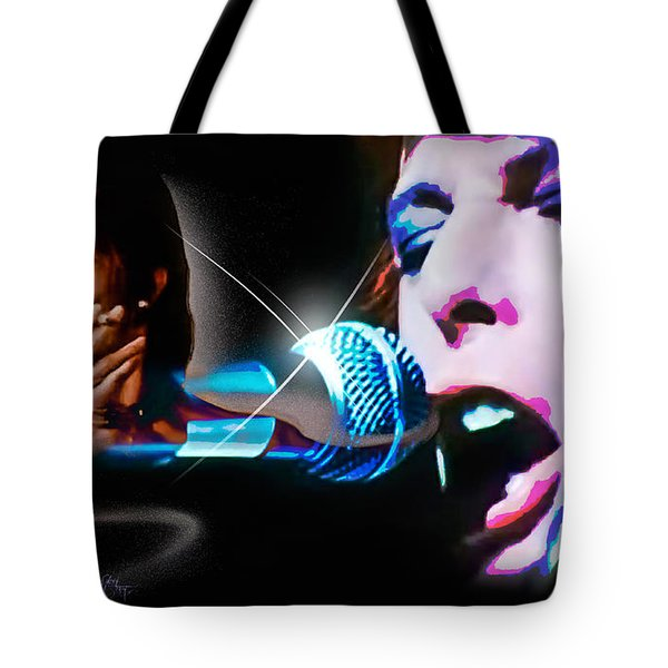 Tote Bag featuring the photograph David Bowie  - Jean Genie by Glenn Feron