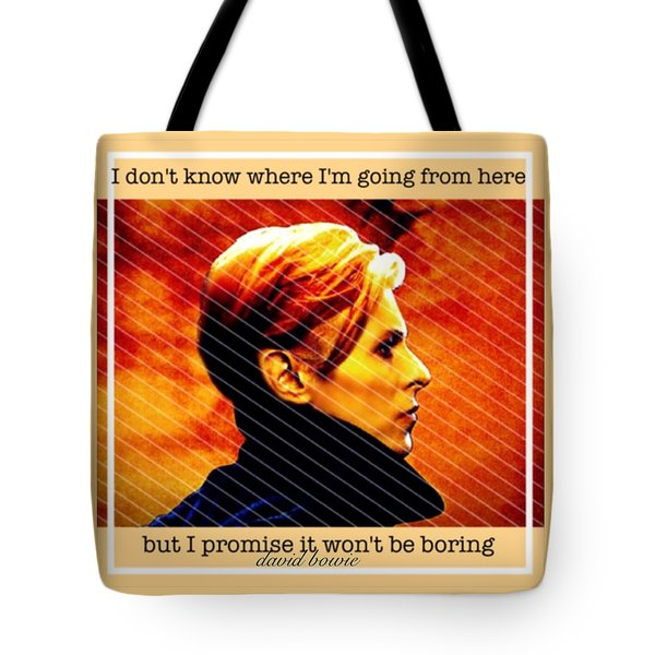 David Bowie Tote Bag by Laura Michelle Corbin