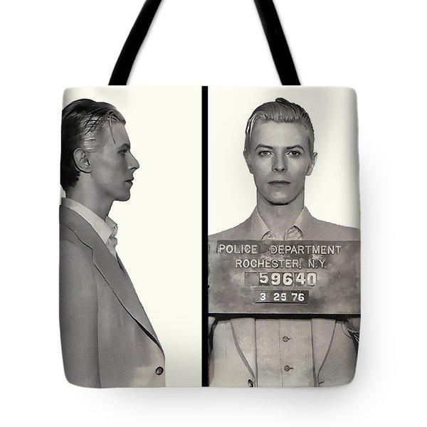 David Bowie Mugshot 1976 Tote Bag