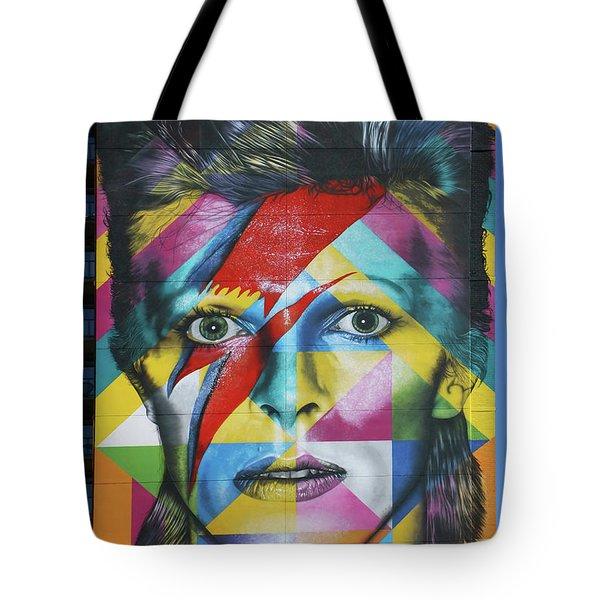 David Bowie Mural # 3 Tote Bag