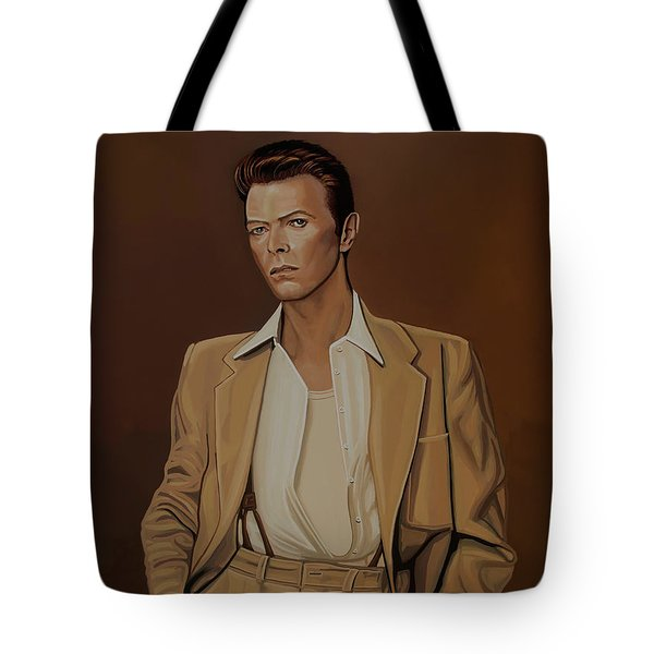 David Bowie Four Ever Tote Bag by Paul Meijering