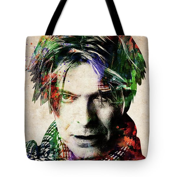 David Bowie Portrait Tote Bag