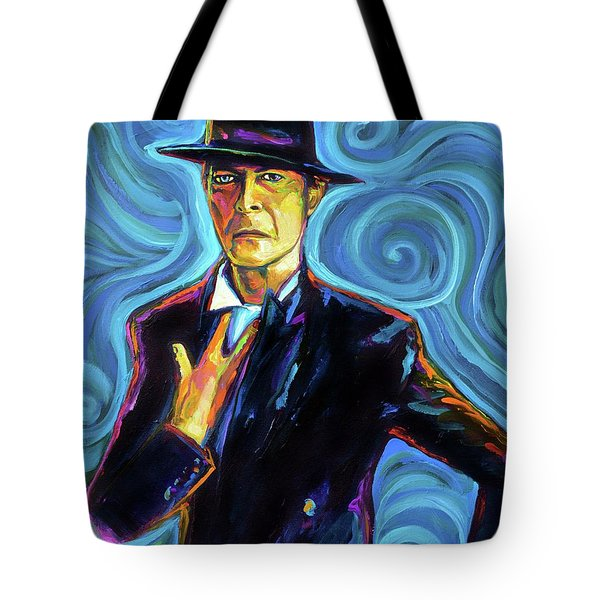 David Bowie Tote Bag by Robert Phelps