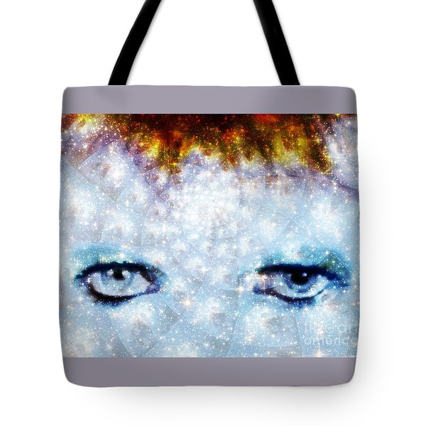 David Bowie / Stardust Tote Bag by Elizabeth McTaggart