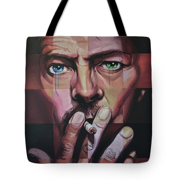 David Bowie Tote Bag by Steve Hunter