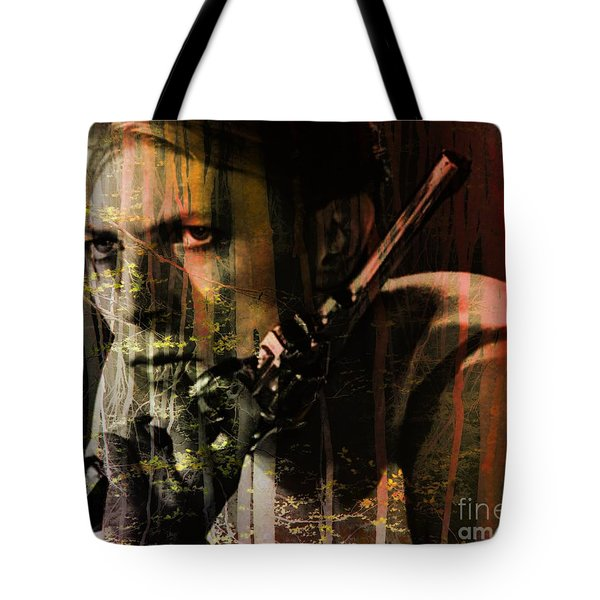 David Bowie / The Man Who Fell To Earth  Tote Bag by Elizabeth McTaggart