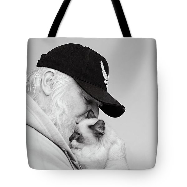 Tote Bag featuring the photograph David Bw by Irina ArchAngelSkaya
