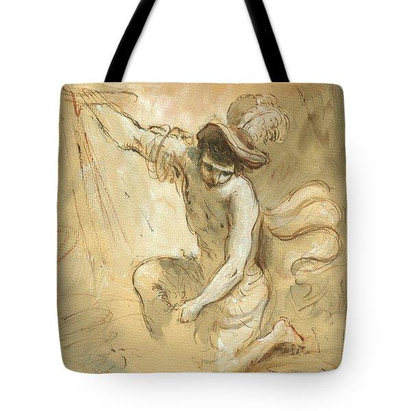 David Figure Drawing Tote Bag