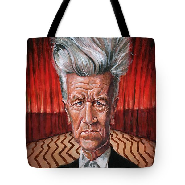 David Lynch Tote Bag by Mark Tavares