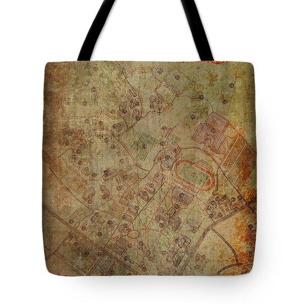 Davidson College Map Tote Bag