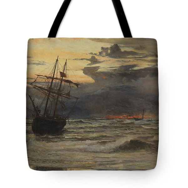 Dawn After The Storm Tote Bag by William Lionel Wyllie