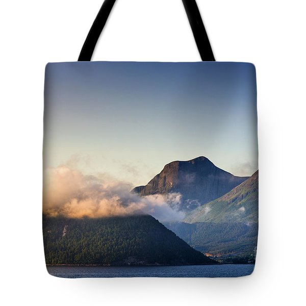 Dawn Along The Nordfjord  Tote Bag