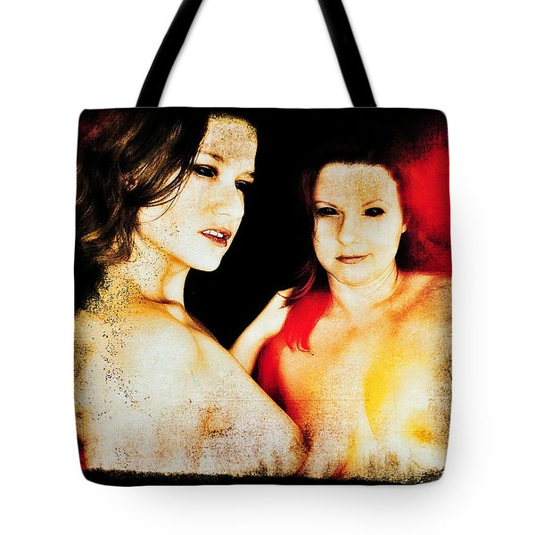 Tote Bag featuring the digital art Dawn And Ryli 1 by Mark Baranowski