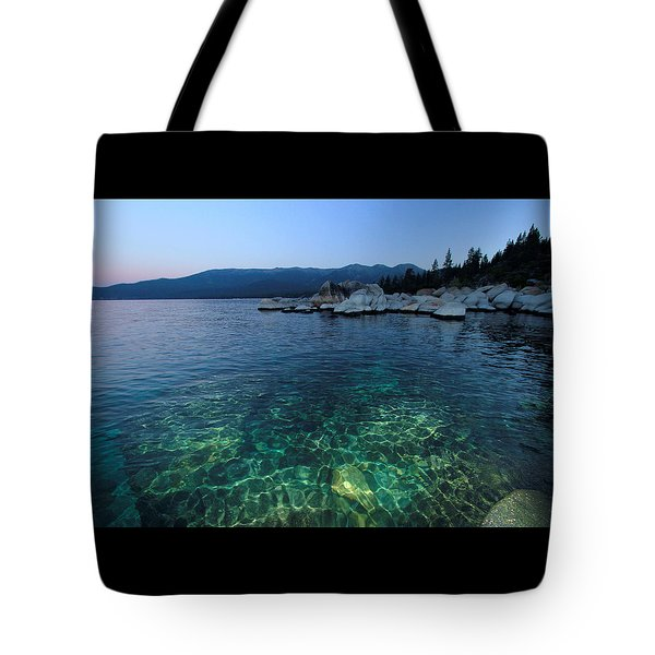 Tote Bag featuring the photograph Dawn Arrives At Lake Tahoe  by Sean Sarsfield