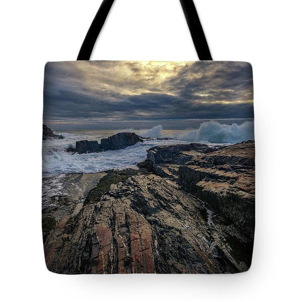 Tote Bag featuring the photograph Dawn At Bald Head Cliff by Rick Berk