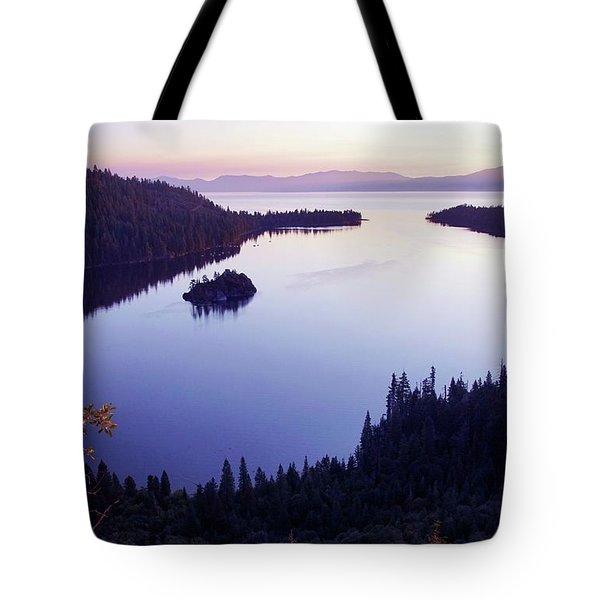 Dawn At Emerald Bay, Lake Tahoe Tote Bag