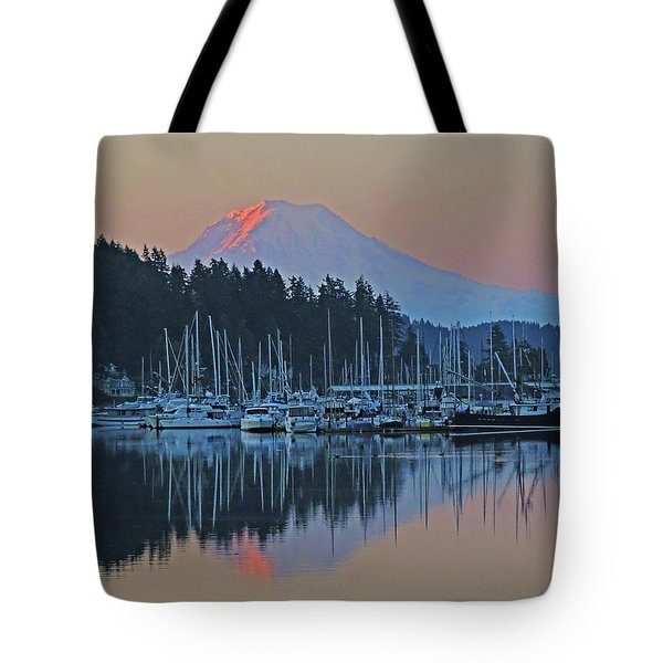 Dawn At Gig Harbor Tote Bag