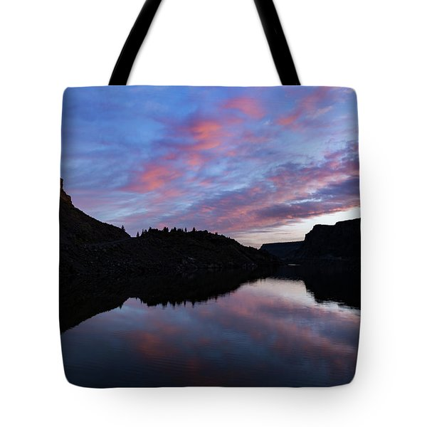 Tote Bag featuring the photograph Dawn At Lake Billy Chinook by Cat Connor