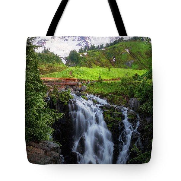 Dawn At Myrtle Falls Tote Bag