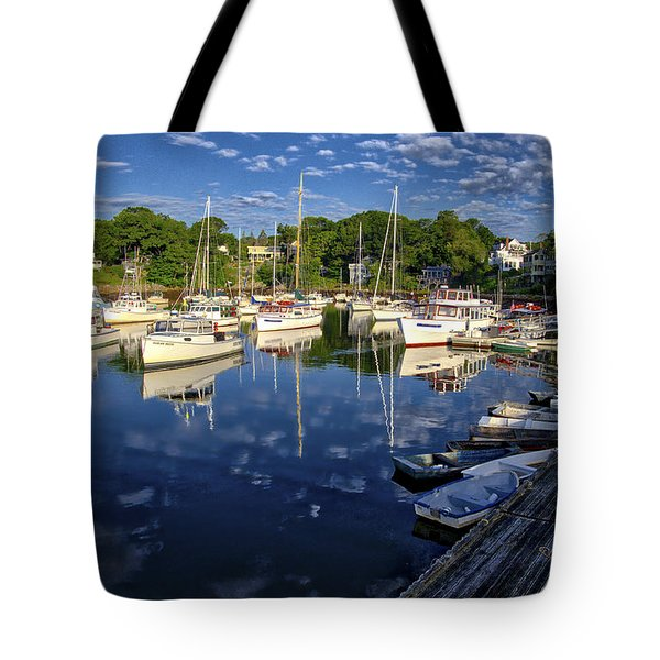 Dawn At Perkins Cove - Maine Tote Bag by Steven Ralser