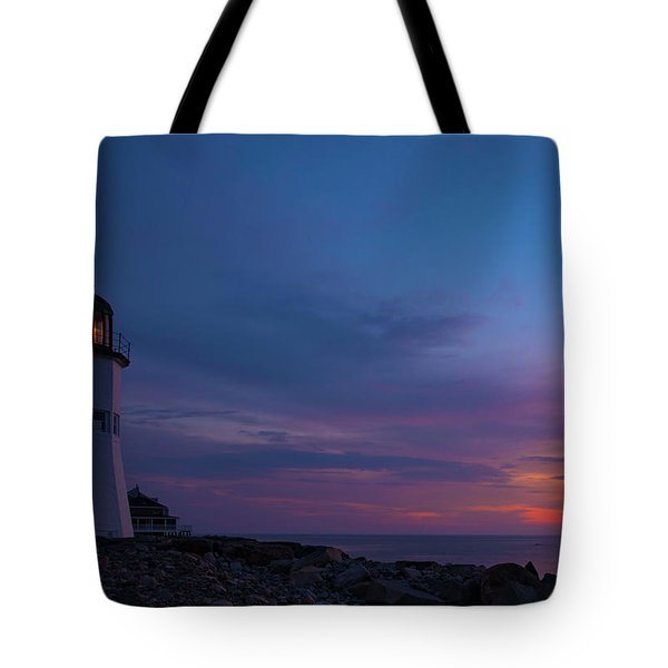 Dawn At Scituate Light Tote Bag