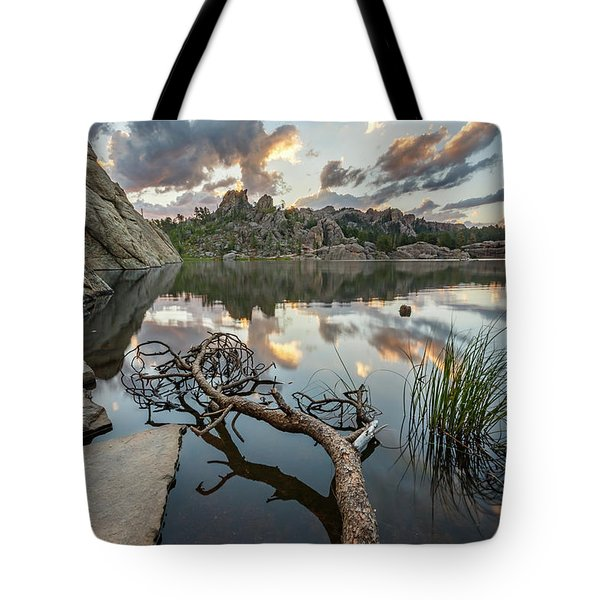 Tote Bag featuring the photograph Dawn At Sylvan Lake by Adam Romanowicz
