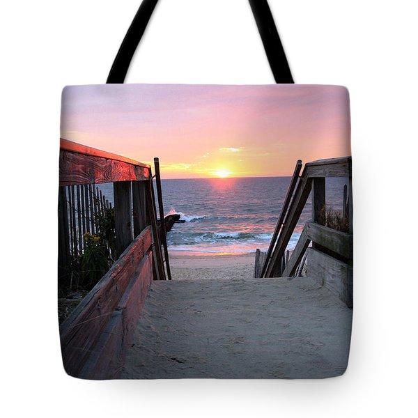 Dawn At The Beach Tote Bag