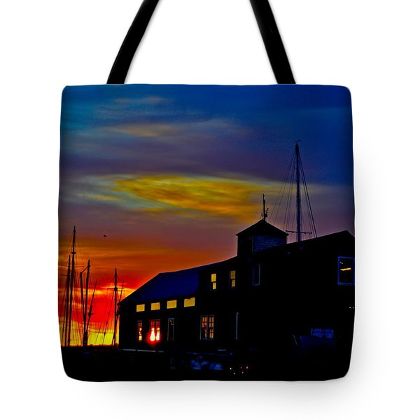 Dawn At The Boatbuilder  Tote Bag