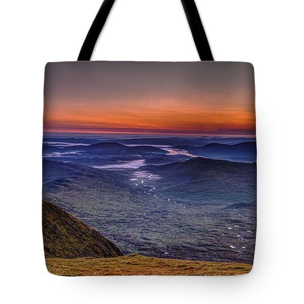 Dawn At The Merrick Summit Tote Bag
