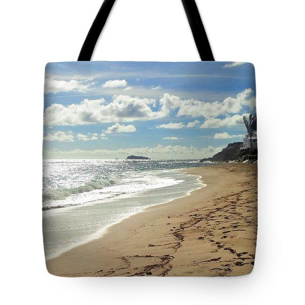 Tote Bag featuring the photograph Dawn Beach by Lars Lentz