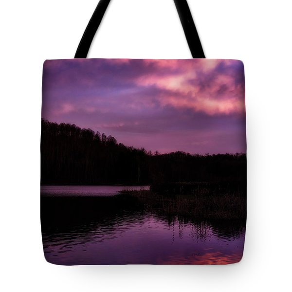 Tote Bag featuring the photograph Dawn Big Ditch Wildlife Management Area by Thomas R Fletcher