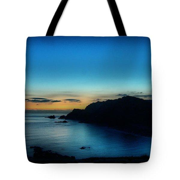 Dawn Blue In Mediterranean Island Of Minorca By Pedro Cardona Tote Bag