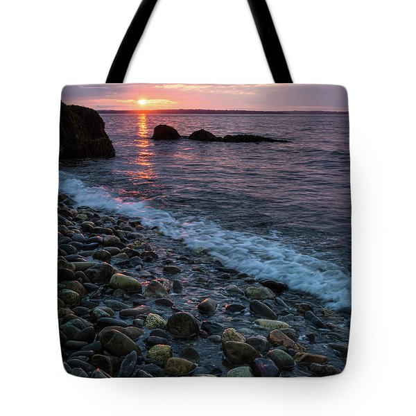Tote Bag featuring the photograph Dawn, Camden, Maine  -18868-18869 by John Bald