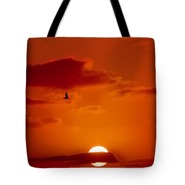 Dawn Flight Tote Bag by DigiArt Diaries by Vicky B Fuller