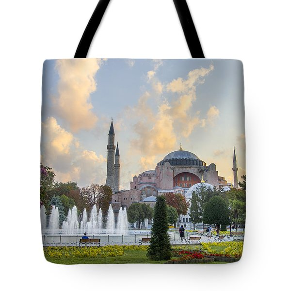 Dawn Hagia Sophia Istanbul Tote Bag by Sally Ross