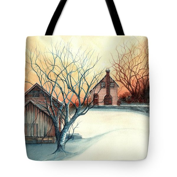 Dawn Has Spoken - Farmhouse Sunrise Tote Bag