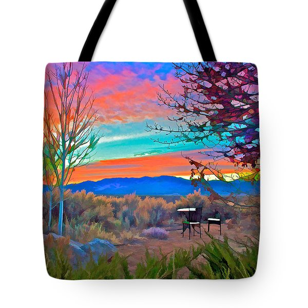 Dawn In El Prado  Tote Bag