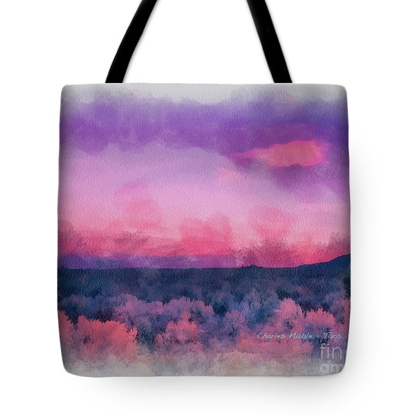 Dawn In Taos In Aquarelle Tote Bag