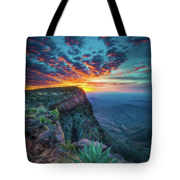 Dawn In The Chisos Tote Bag