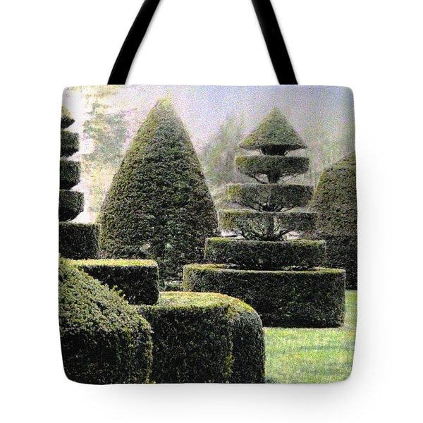 Dawn In A Topiary Garden   Tote Bag by Angela Davies