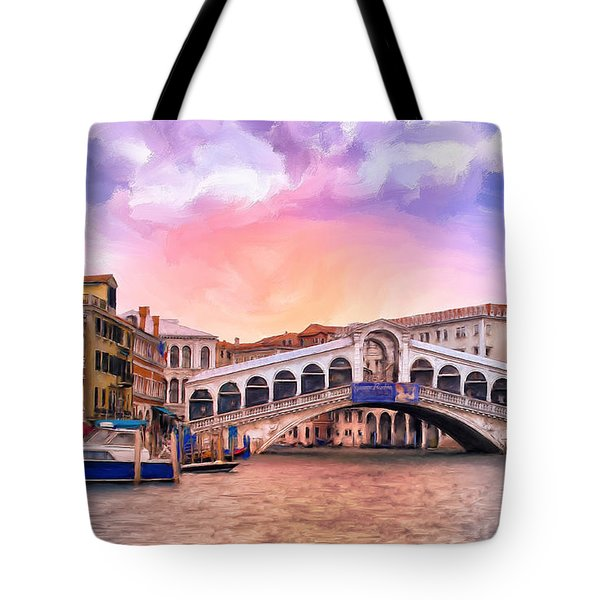 Dawn Light At Rialto Bridge Tote Bag