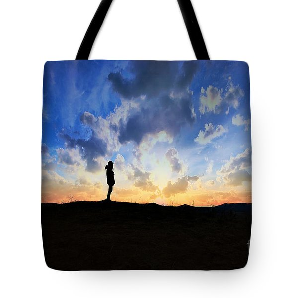 Dawn Of A New Day Sunrise 140a Tote Bag by Ricardos Creations