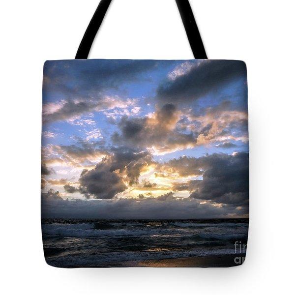 Dawn Of A New Day Treasure Coast Florida Seascape Sunrise 138 Tote Bag