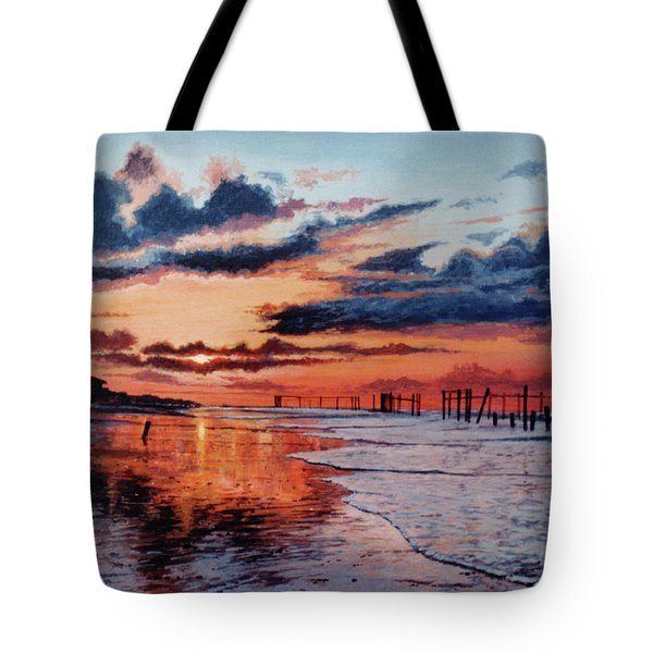 Dawn On Crystal Beach Tote Bag